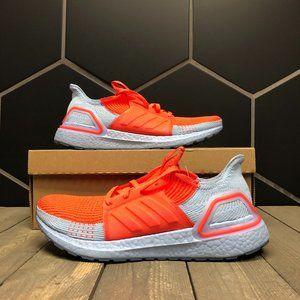 Adidas Ultraboost 19 Glow Blue Solar Red Size 9